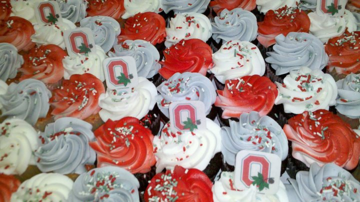 Ohio State Cupcakes
