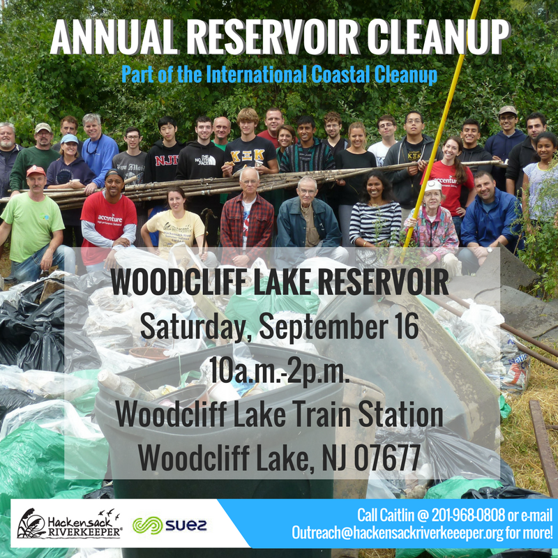 Volunteers: we've moved our upcoming 9/16 Oradell Reservoir