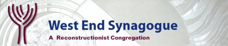 West End Synagogue - A Reconstructionist Congregation