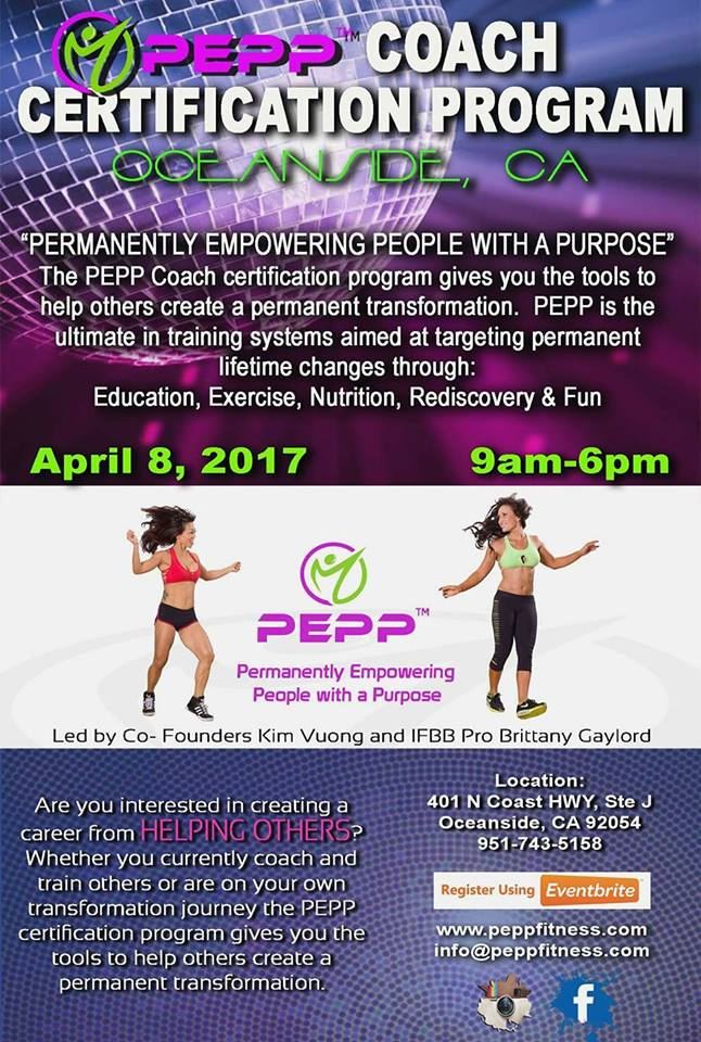 Pepp Coach Certification Program Permanently Empowering People