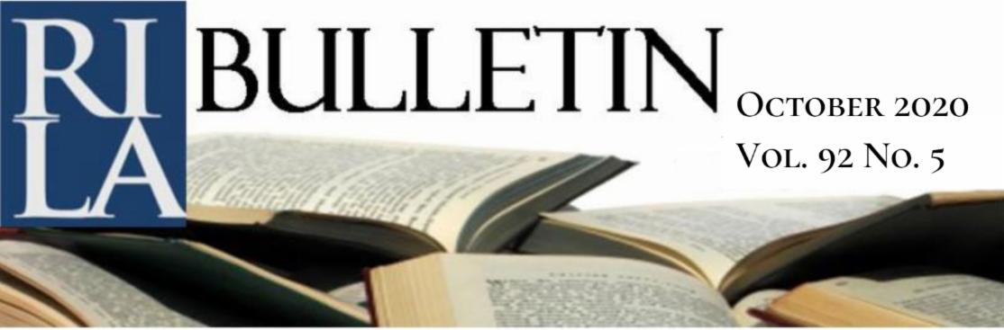 RILA Bulletin, October 2020, Vol. 92, No. 5