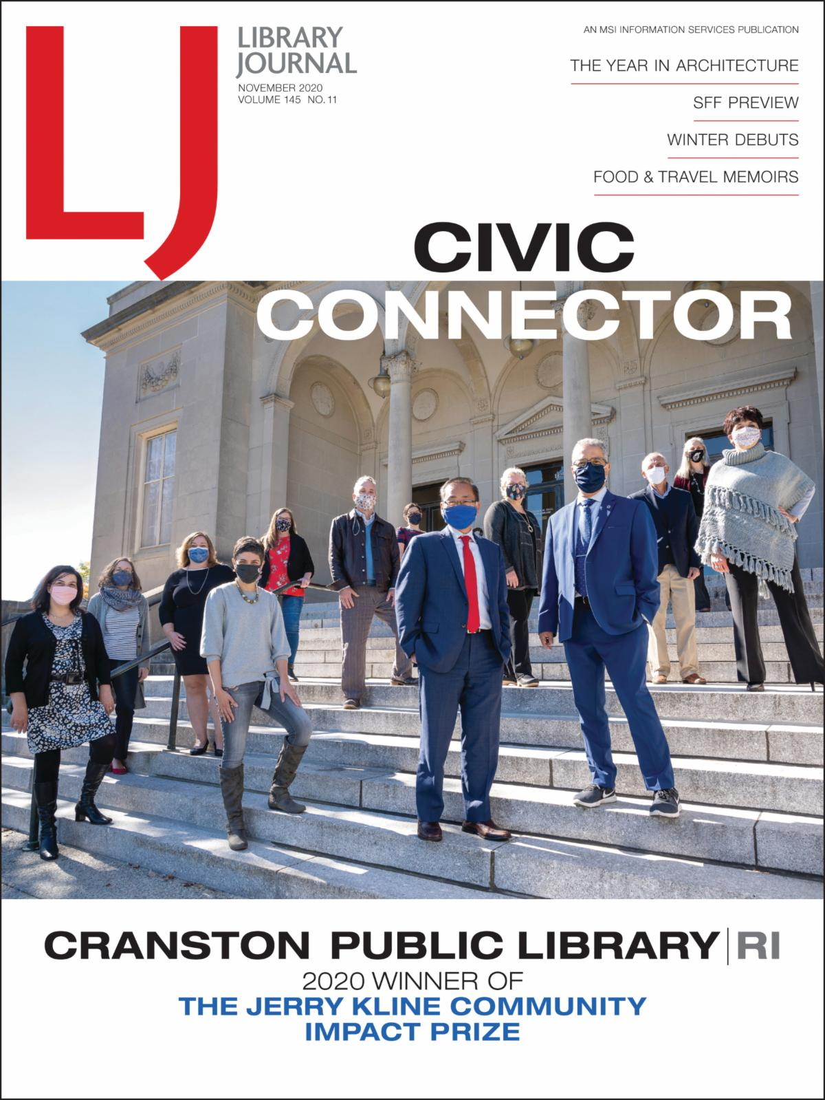 CPL on cover of Library Journal