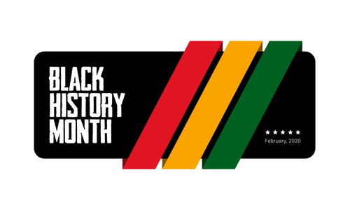 Black History Month green_ yellow and red stripes banner template. African-American History Month - February -celebration of the important contribution of black people to culture_ science and history.