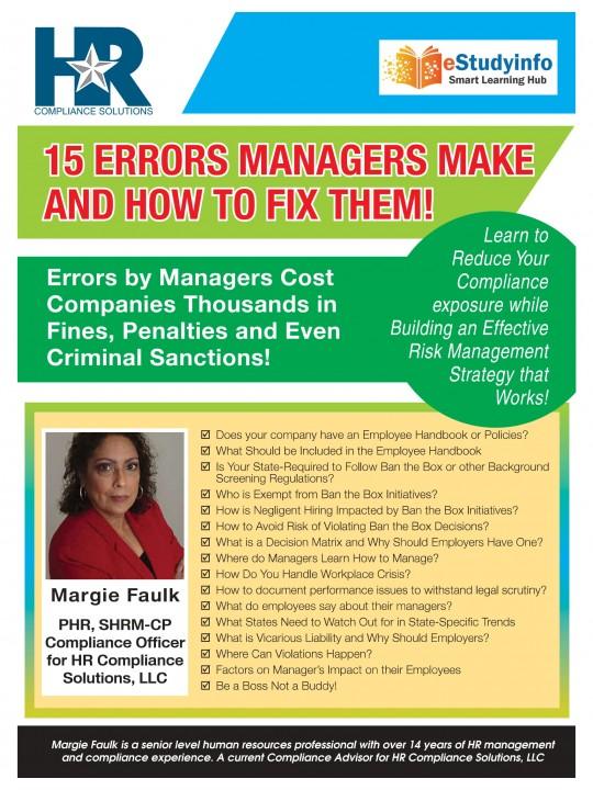 15 Errors E-Book
