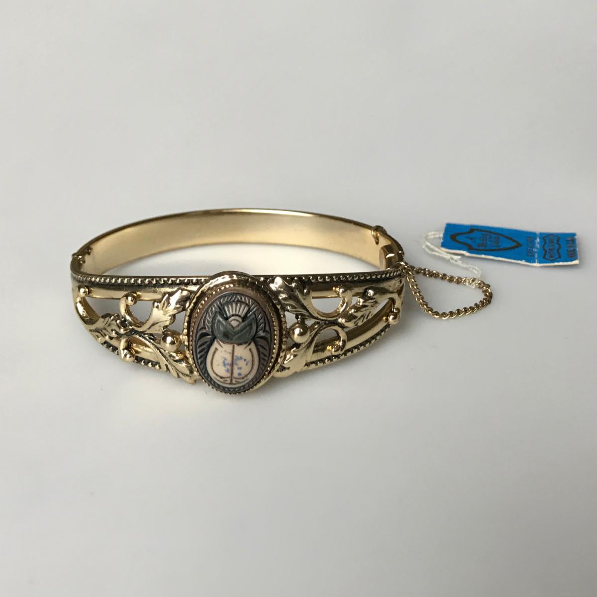 Whiting _ Davis Scarab Bracelet
