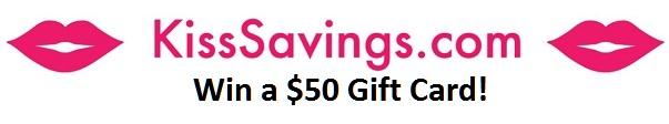 KissSavings Win $50 Gift Card