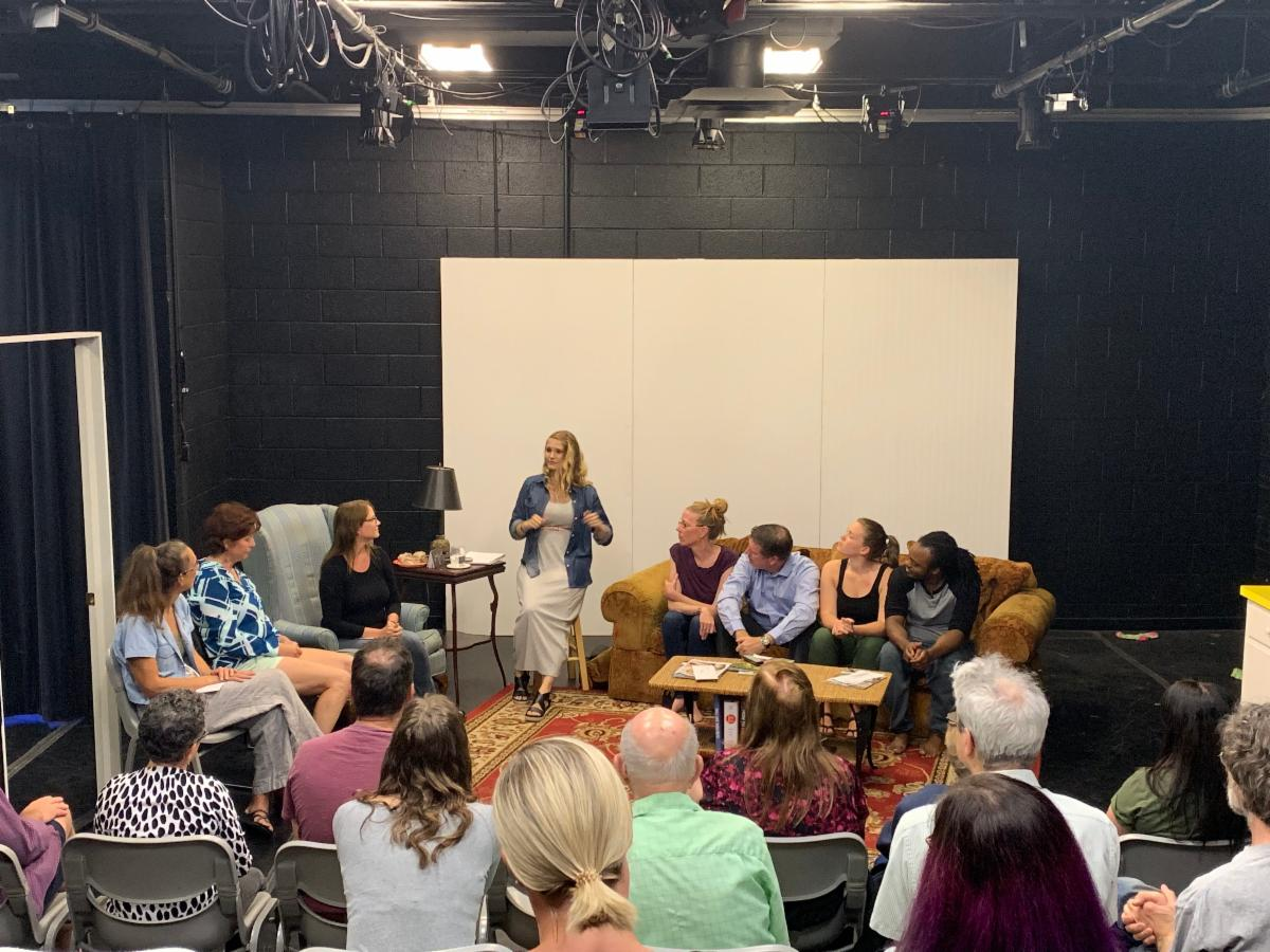 Brittany Ellenbecker, Director of Community Education and Outreach led panel discussions after SWANS performance in August.