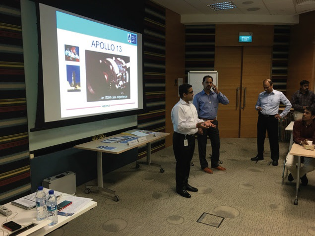 Figure 1 ITSMF Singapore Chair Vinay Jain kicking off the session