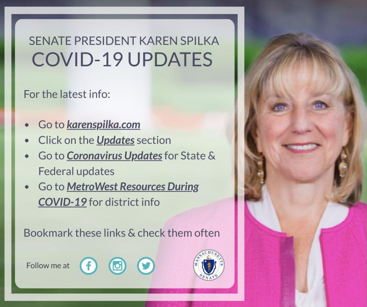 Senate President Karen Spilka: Coronavirus Update as of March 21, 2020