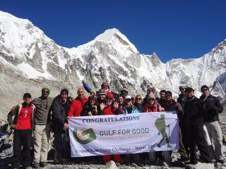 Nepal 2011 - group at Everest Base Camp