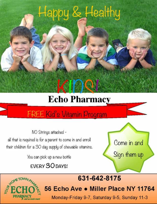 FREE Kids Vitamin Club at Echo Pharmacy