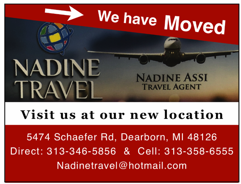 Visit Nadine Travel today at their new location at 5474 Schaefer Rd, Dearborn MI 48126. 313-346-5856 or 313-358-6555