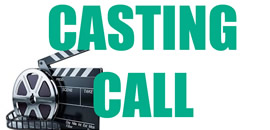 Casting call with action slate