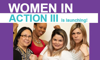 Women in Action III is launching! (Women flexing muscles)