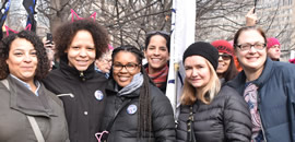 ETT and Peel members at the 2017 Women's March