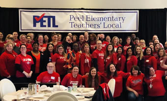Peel members wearing Red for Ed