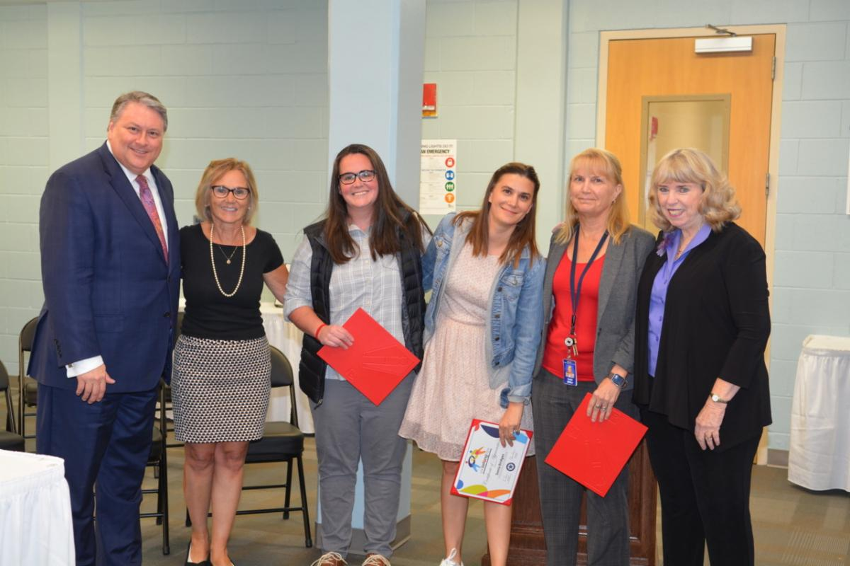 TSD School Board President Eric Hogue ERCOD Director Bobbie Beth Scoggins Outreach Specialist MaryEllen Graham Outreach Specialist Sonia Bridges Outreach Specialist Linda Miller and TSD Superintendent Claire Bugen