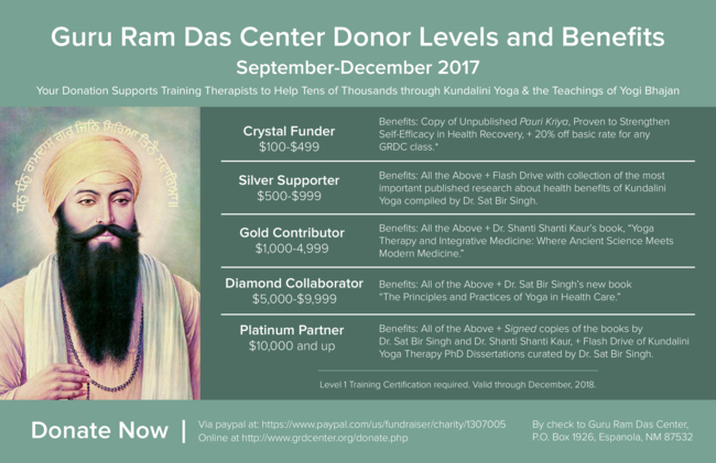 Special Event with Sat Bir Singh and New Courses for Fall!
