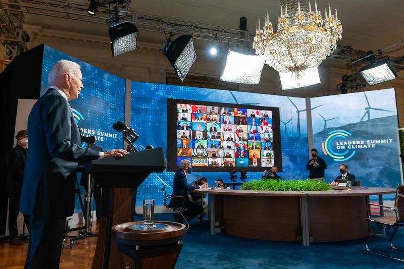 President Biden kicks off the Virtual Leaders Summit on Climate on April 22, 2021.