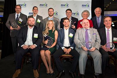 The award winners from the 2019 Virginia Data Center Leadership Awards