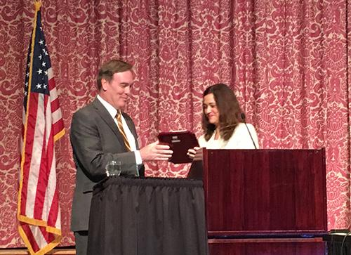 CJ Steuart Thomas accepts VTLA-VADA award