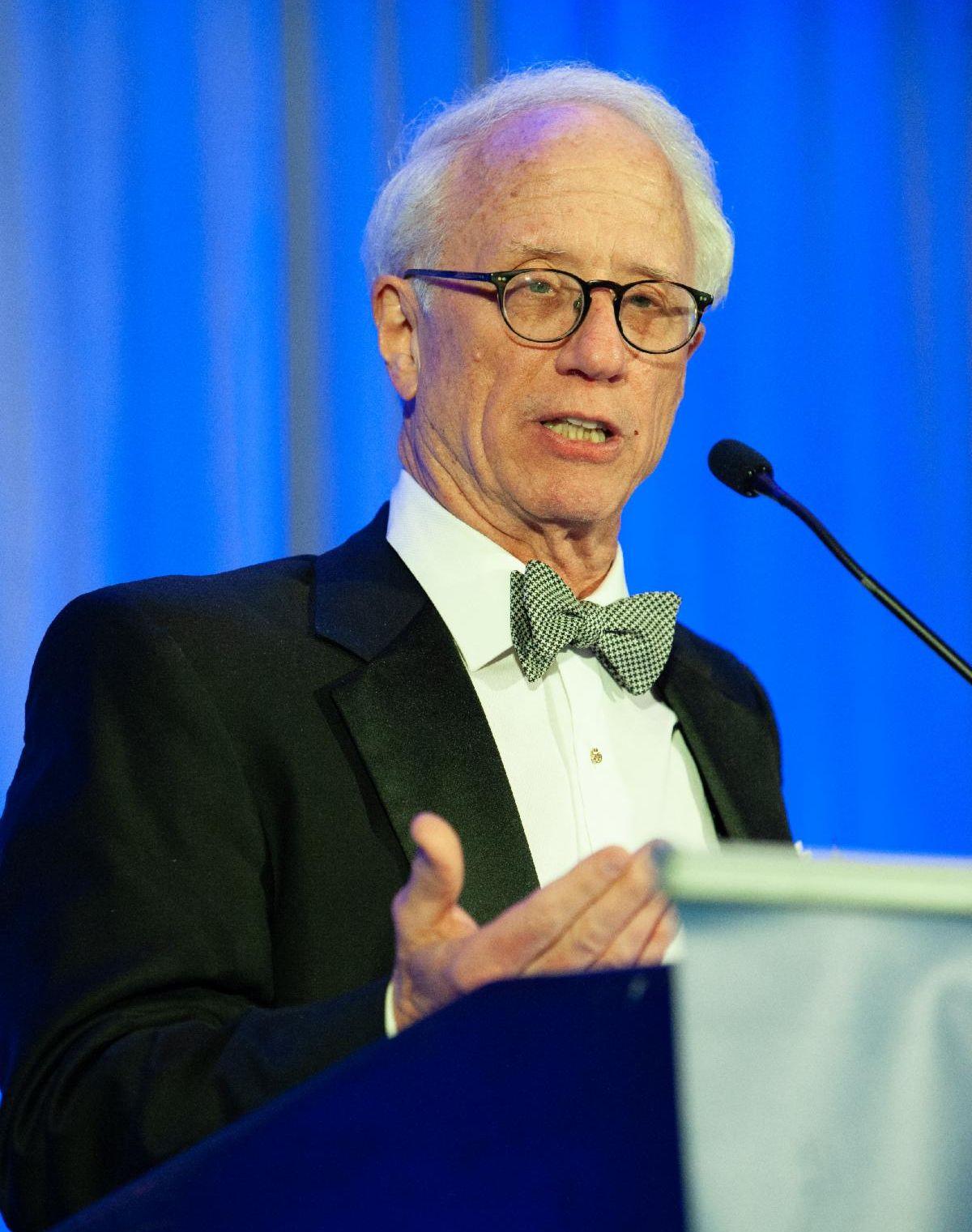 Charles Menges makes remarks upon receiving 2020 Legislative Advocacy Award