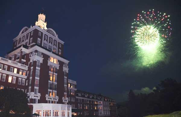 Fireworks at The Omni Homestead Resort
