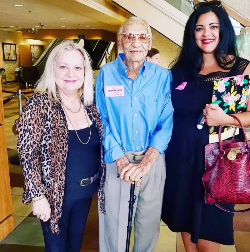 Mr and Mrs Johnson with HOPE staff member Luxmy Panzardi