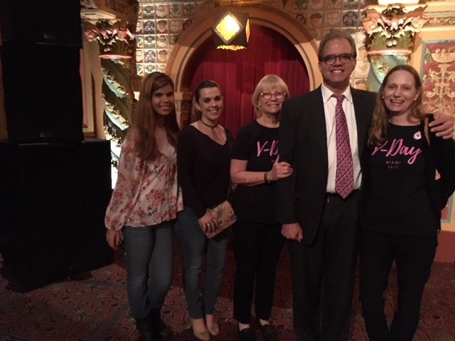 Claudia, Yare, Sharon, Matt, and Debbie at the Vagina Monologues.