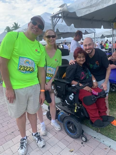 Debbie and Matt with the CIL staff at the corporate run