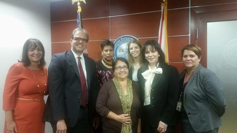Matt and Gladys with Miami-Dade County State Attorney Katherine Fernandez Rundle and her team.
