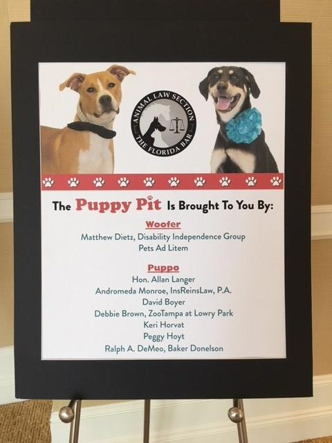 sponsor sign from puppy pit