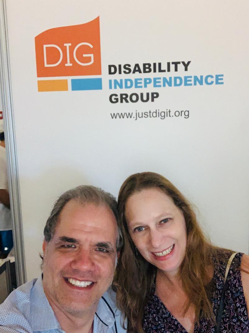 debbie and matt at the AAJ conference in Miami Beach