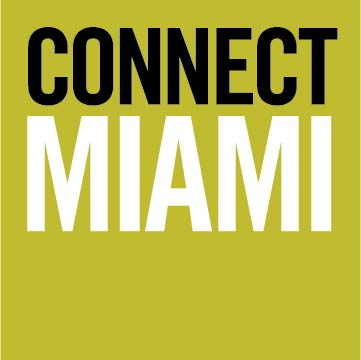 connect miami with a green background.