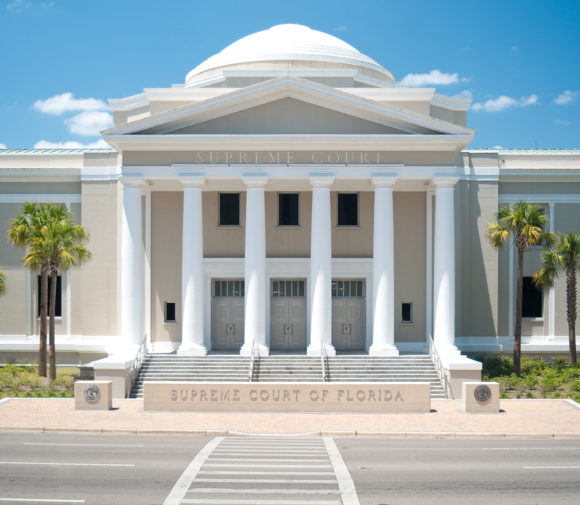 photo of the supreme court of florida looking at the entrance