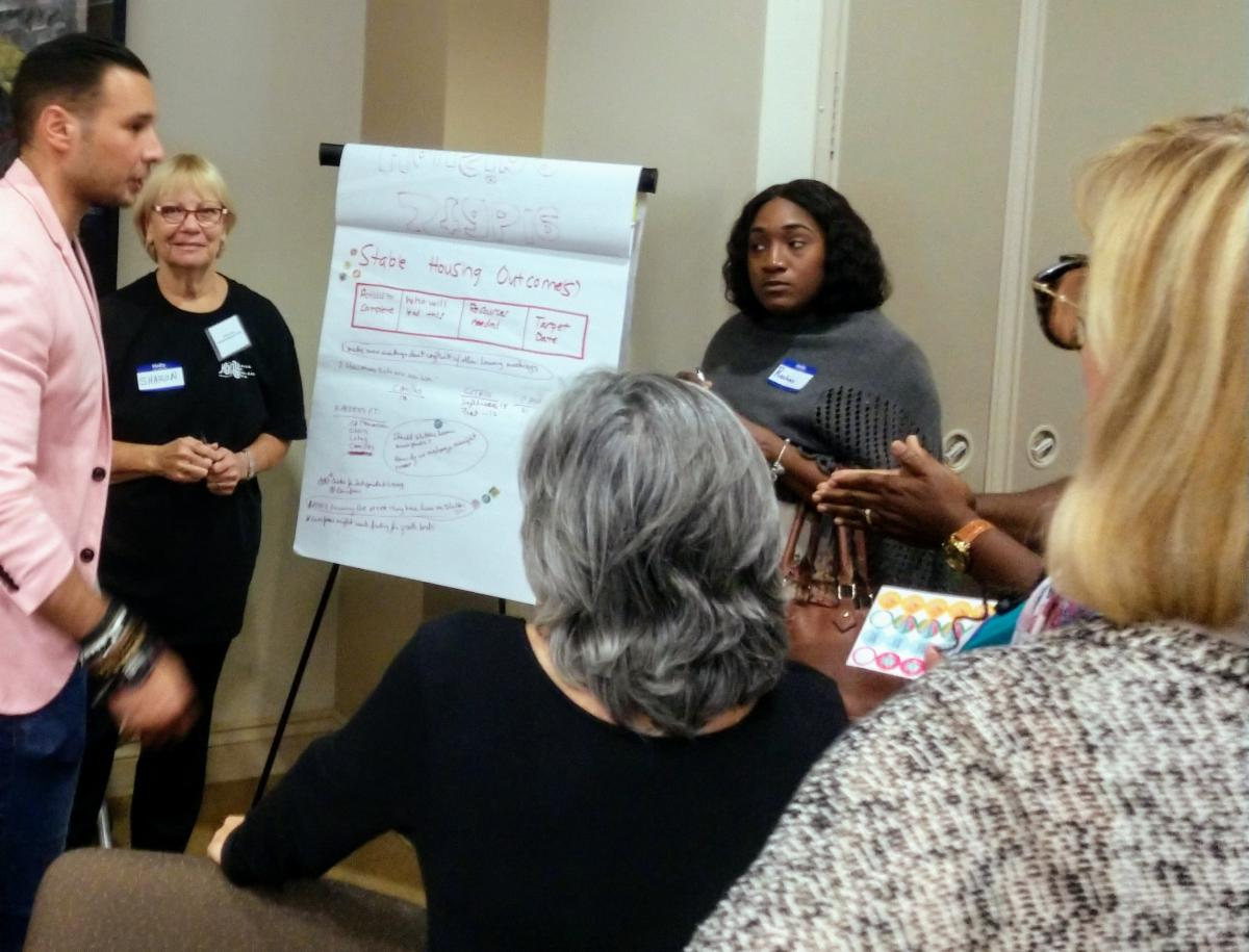 Sharon leading a training at the HOMY Summit