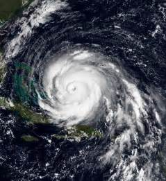 satellite picture of a hurricane storm.