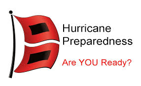 hurricane flags with the words hurricane preparedness are you ready
