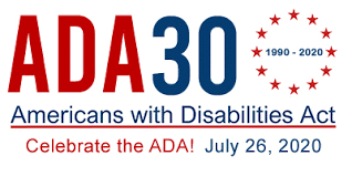 logo for the 30th anniversary of the ADA