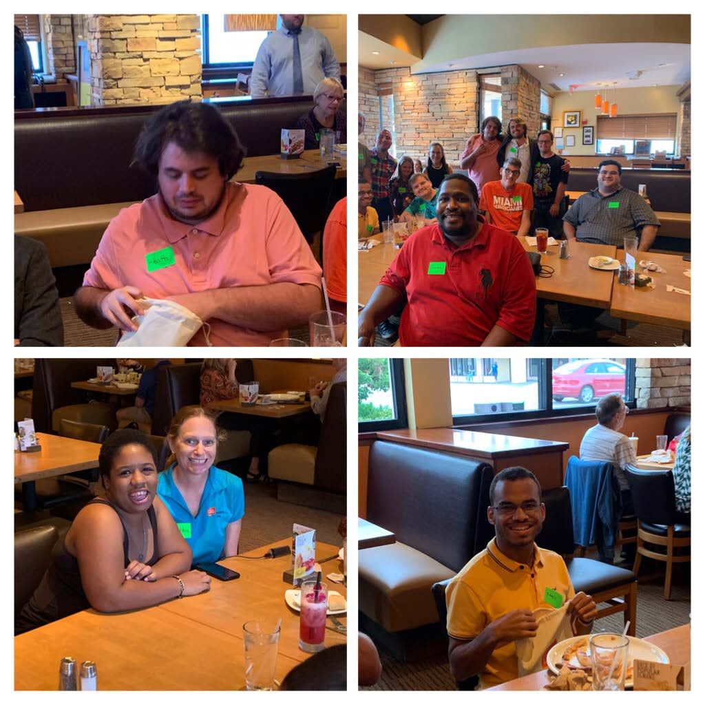 collage of four pictures from supper social club at california pizza kitchen