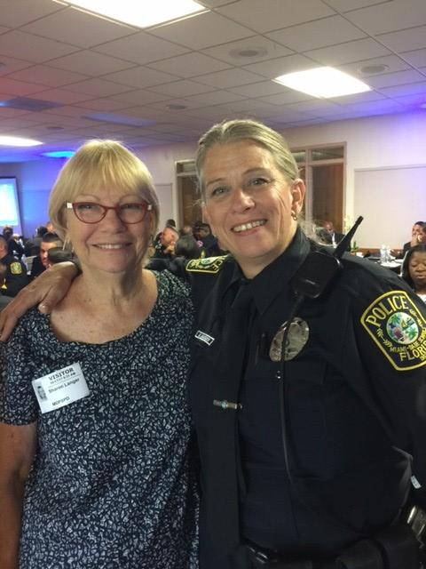 Sharon and Officer N. Badger at the Miami Dade School Police Annual Conference