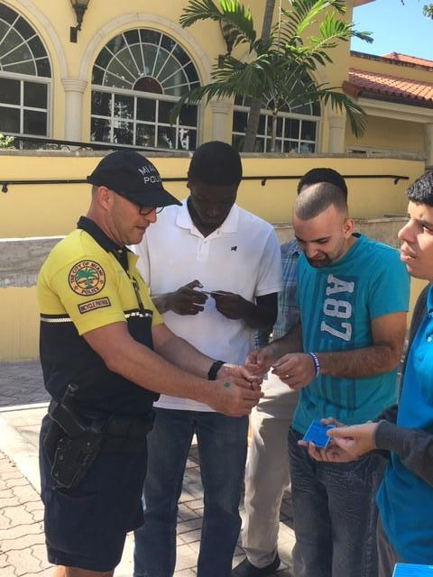City of Miami Police and project SEARCH students.