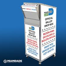 voting drop box for the miami dade county elections department