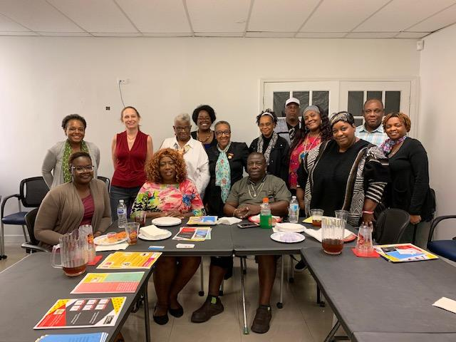 training with the staff of concerned african women