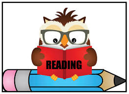 clip art of an owl wearing glasses reading a book and sitting on a pencil