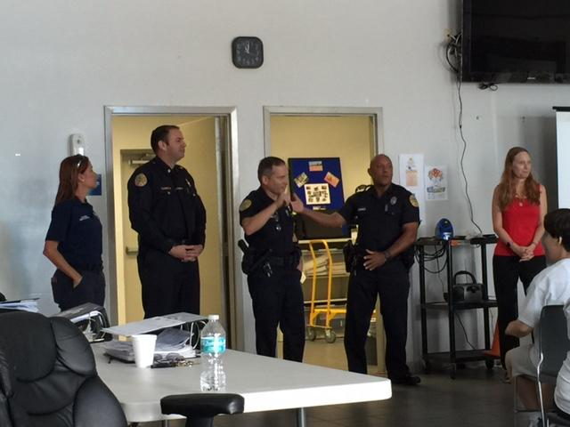 Debbie Dietz training at the Sandra DeLucca Developmental Center with City of Miami Police and Firefighters.