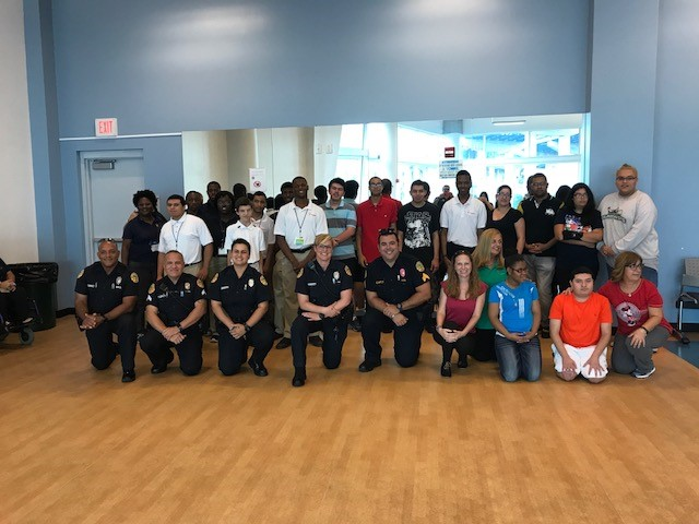 Project SEARCH students and the City of Miami Police