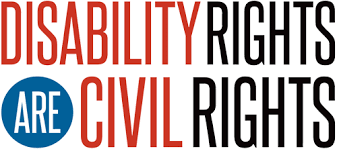 words written disability rights are civil rights.