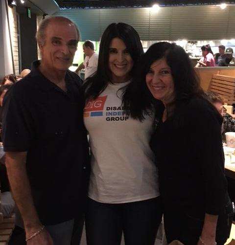 Lisa and her parents at Shake Shack event