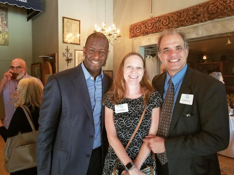 Debbie and Matt with Mayor Gillum